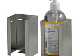 Edelstahlhalter für Kartuschen, Dispenser und Rundflaschen