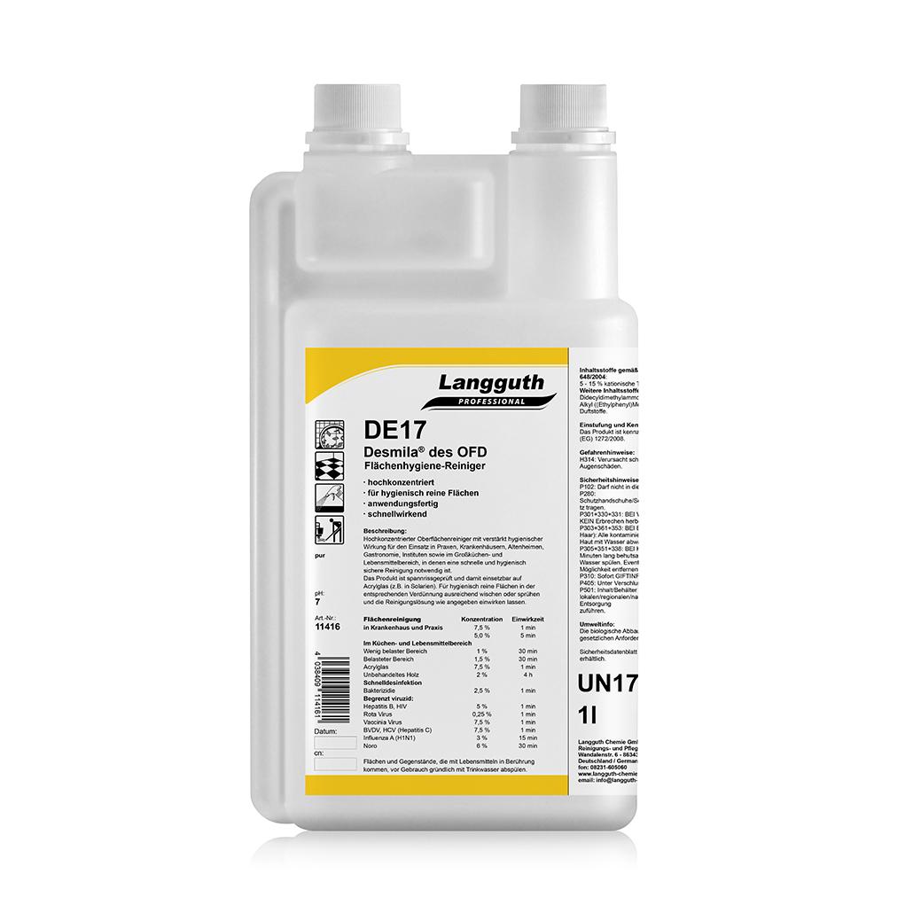 DE17 Desmila® des OFD Flächenhygiene-Reiniger Hochkonzentrat 1l Dosierflasche